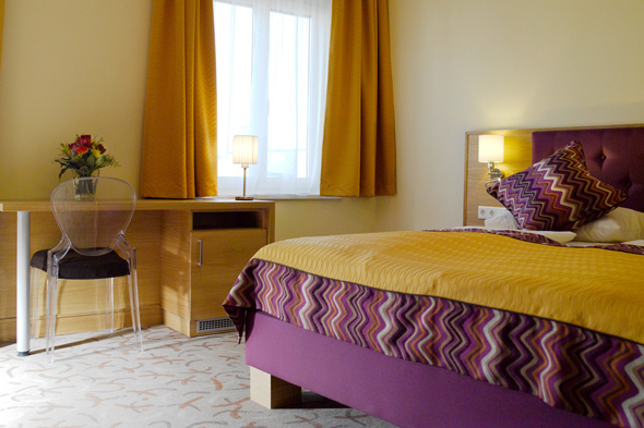new styled comfortrooms at Hotel Drei Raben